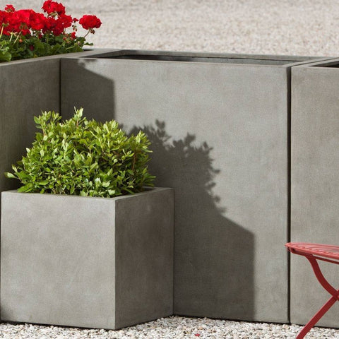 Campania International Modular Lite Planter 4 in Concrete Lite At Home with Beth and Chad