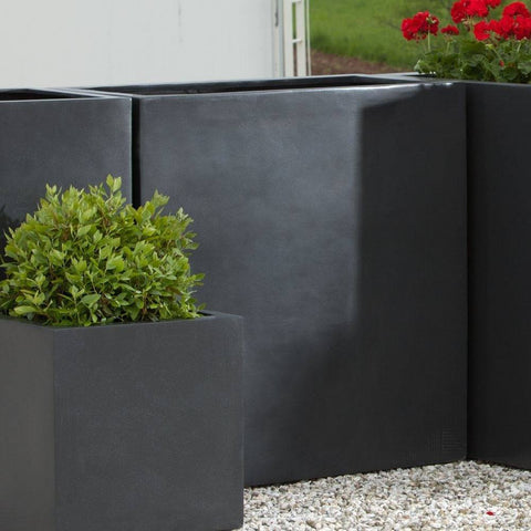 Campania International Modular Lite Planter 4 in Matte Black At Home with Beth and Chad