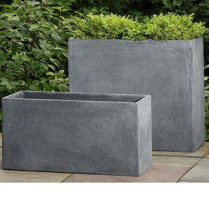 Campania International Modular Planter 6 in Lead Lite At Home with Beth and Chad