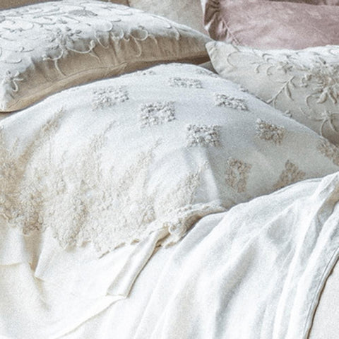 Image of Bella Notte Linens Embellished Olivia Pillowcases Quick Ship - AtHomewithBethandChad.com