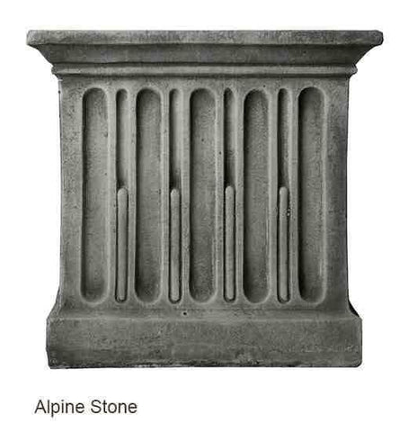 Campania International Textured Small Low Square Pedestal At Home with Beth and Chad