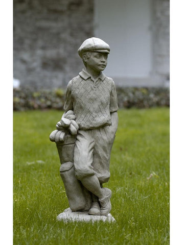 Image of Campania International Male Golfer Garden Statue At Home with Beth and Chad