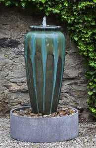 Campania International Nico Art Pottery Jar Fountain with Basin At Home with Beth and Chad