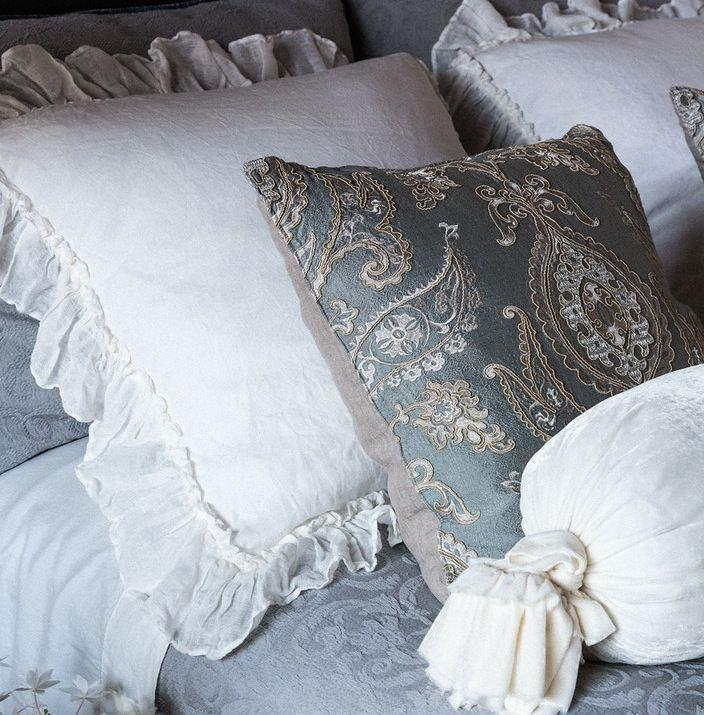 Bella Notte Linens Whisper Linen Pillow Shams Quick Ship - AtHomewithBethandChad.com