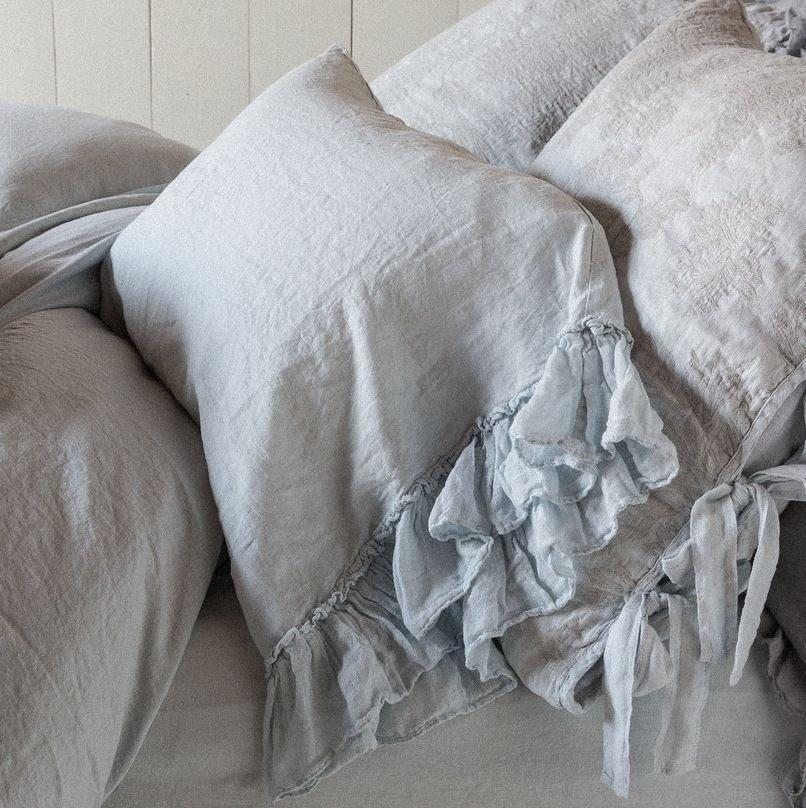 Bella Notte Linens Whisper Linen Pillowcases Quick Ship - AtHomewithBethandChad.com