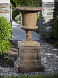 Campania International Williamsburg Jefferson Planter On Jefferson Pedestal At Home with Beth and Chad