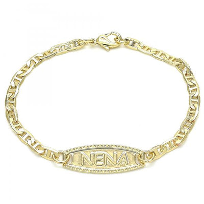 Gold Layered Boys and Girls Mariner ID Bracelet, by Folks Jewelry