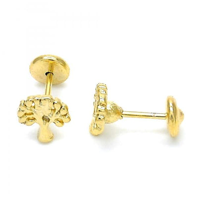 Gold Layered Boys and Girls Tree Stud Earring, by Folks Jewelry