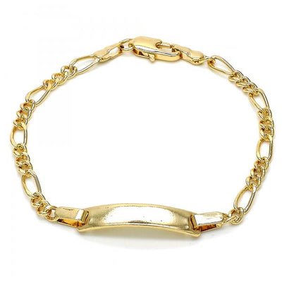 Gold Layered Boys and Girls ID Bracelet, by Folks Jewelry