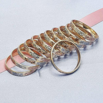 Gold Plated Girls Dozen Bangle, by Folks Jewelry