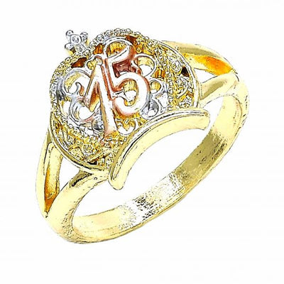 Gold Layered Women Crown Elegant Ring, by Folks Jewelry