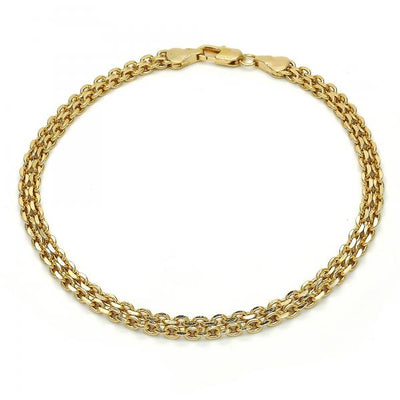 Gold Layered Women Fancy Anklet, by Folks Jewelry