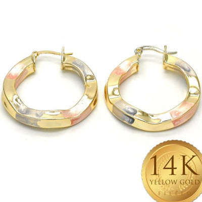 Gold Layered Women Medium Hoop, by Folks Jewelry
