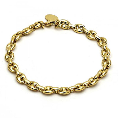 Gold Layered Men and Women Mariner Fancy Bracelet, by Folks Jewelry