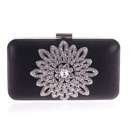 b87f80d430a3 Satin Floral Evening Bag Clutches - Premium Women Luxury Evening Clutches   Purses  Handbag