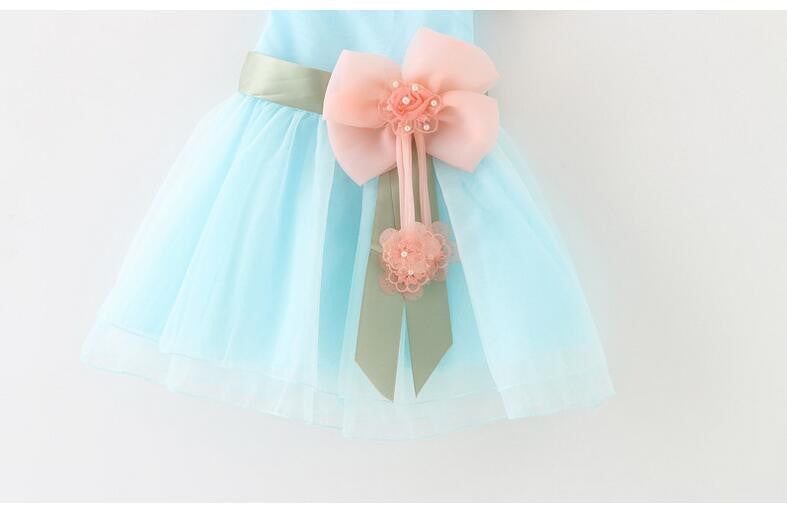 Tutu Dress with Flower Embellishments