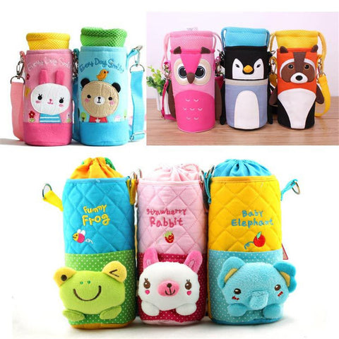 Cartoon Animal Insulated Bottle Bag