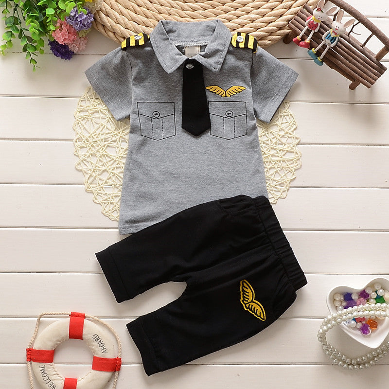 Uniform Style Pant & Shirt with Tie
