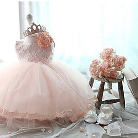 Elegant Floral Princess Dress