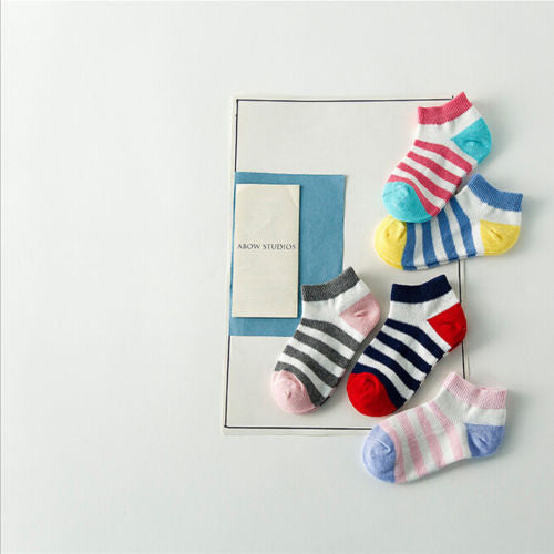 5 Pairs of Casual Patterned Socks