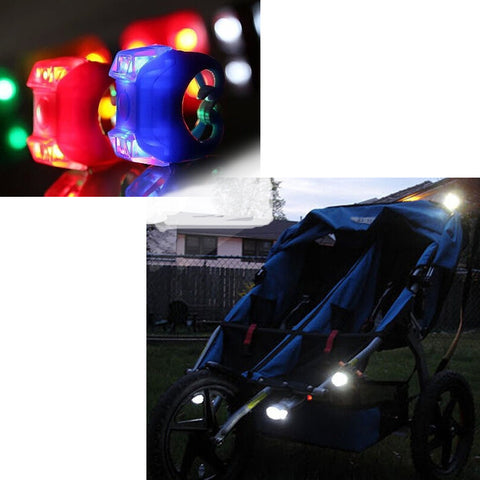 2-Piece Set: Flashing LED Stroller Security Lights