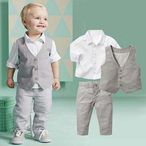 3-Piece Set: Spring Shirt, Vest & Pants