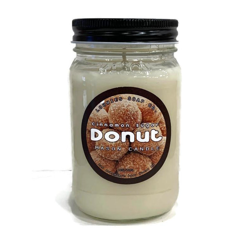 Cinnamon Sugar Donut Candle
