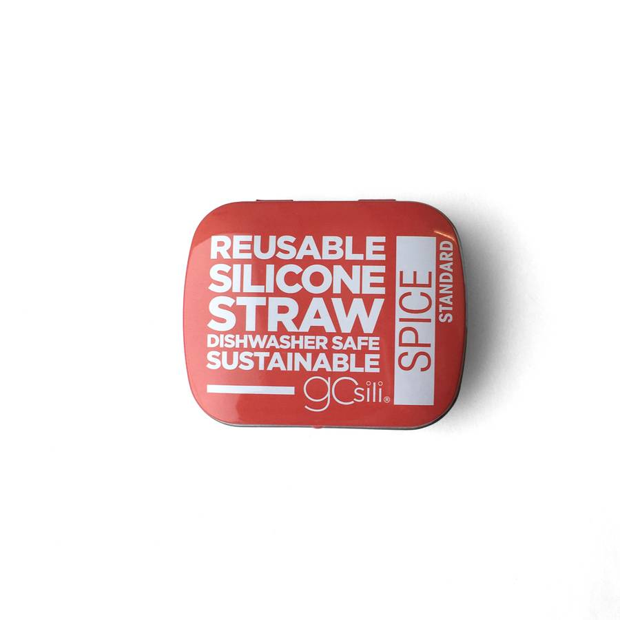 "Silicone Straw in Tin 8"" Size"