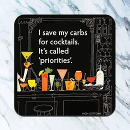 Save Carbs Coaster