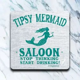 Tipsy Mermaid Coaster