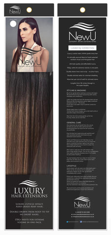 Bali (Weft) 100% Remy AAAA Luxury Hair Extensions - New U Hair Extensions, Voted No1 By You!