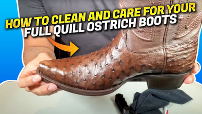 How To Clean, Condition And Care For Full Quill Ostrich Boots