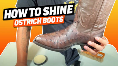 How To Shine Full Quill Ostrich Boots With Neutral Shoe Wax Polish