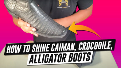 How To Shine Caiman Crocodile Alligator Boots With Neutral Shoe Wax Polish