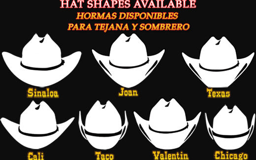 Different Kind Of Hat Shapes For Your Felt Or Straw Cowboy Hat ... 01091f0724d