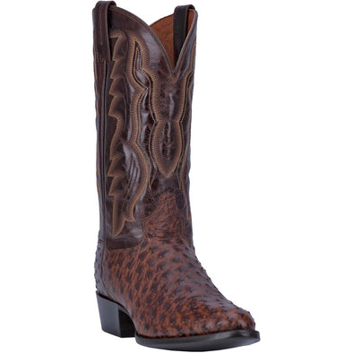 Men's Dan Post Pershing Ostrich Boots Handcrafted - yeehawcowboy