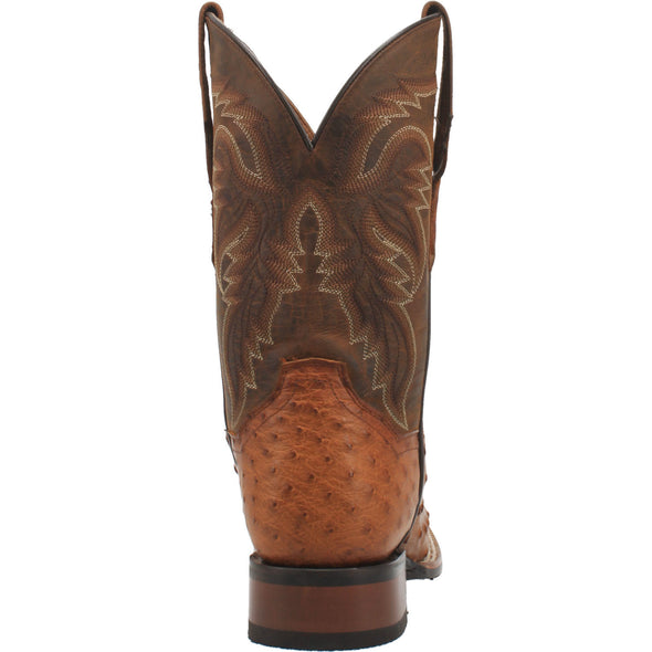 Men's Dan Post Alamosa Ostrich Boots Handcrafted Bay Apache - yeehawcowboy