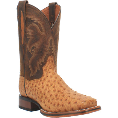 Men's Dan Post Kershaw Ostrich Boots Handcrafted Saddle - yeehawcowboy