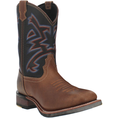 Men's Dan Post Mammoth Leather Boots Handcrafted Chocolate - yeehawcowboy