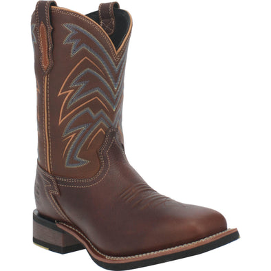 Men's Dan Post Arrowhead Leather Boots Handcrafted Brown - yeehawcowboy