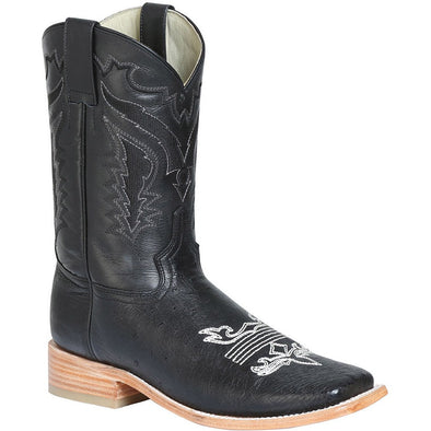 Men's 100 Años Smooth Ostrich Boots Square Toe Handcrafted - yeehawcowboy