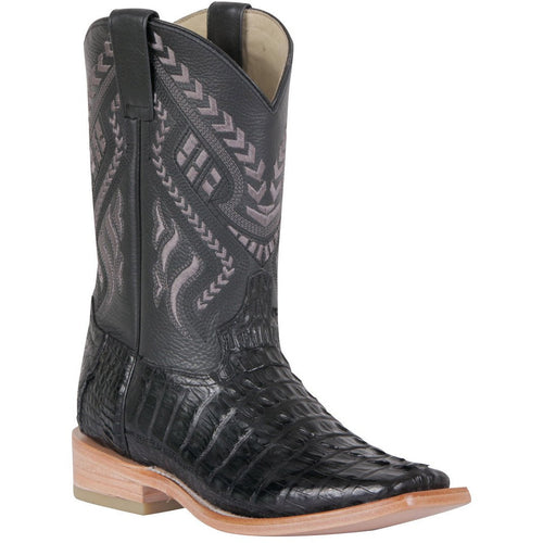 Men's 100 Años Caiman Tail Boots Square Toe Handcrafted - yeehawcowboy