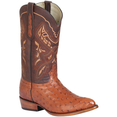 Men's 100 Años Ostrich Boots Medium Round Toe Handcrafted - yeehawcowboy