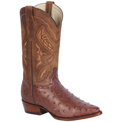 Men's 100 Años Ostrich Boots J-Toe Handcrafted - yeehawcowboy