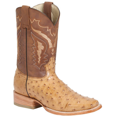 Men's 100 Años Ostrich Boots Square Toe Handcrafted - yeehawcowboy