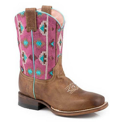 Kid's Roper Arizona Leather Boots Handcrafted - yeehawcowboy