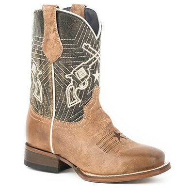 Kids Roper Six Shooter Boots Handcrafted - yeehawcowboy