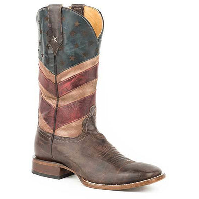 Men's Roper Old Glory Boots Handcrafted - yeehawcowboy