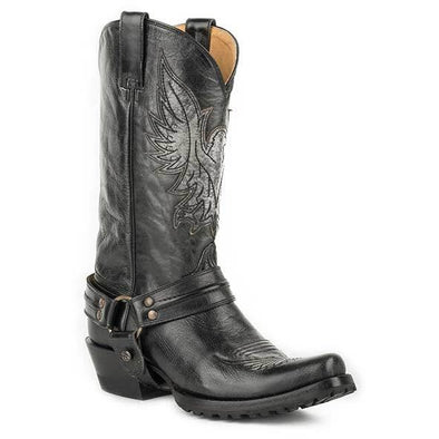 Men's Roper  Moto Eagle Lug Boots Handcrafted - yeehawcowboy
