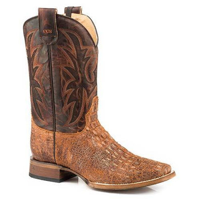 Men's Roper Pierce Caiman Print Concealed Carry Boots - yeehawcowboy